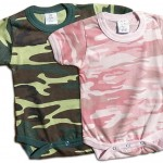 Boys and girls camo-onesie. camouflage print for your little duck hunter