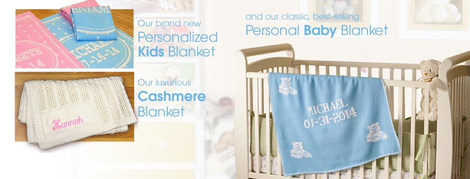 Personalized baby and kids blankets