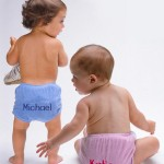 boys and girls personalized diaper covers. 100% cotton.