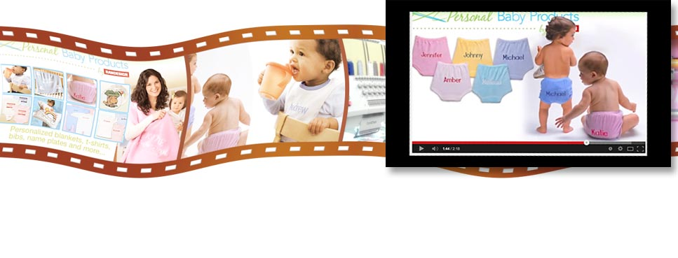 video-production of personalized baby products by Randesign. Quality Made in the USA