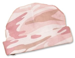 Girls pink camo-hats. camouflage print for your little duck hunter