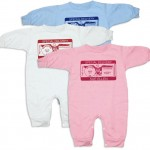 "Personalized, ""Special Deliver"" rompers. Unique comfortable baby clothing for baby presents and gifts."