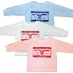 "Personalized long sleeve ""Special Delivery"" t-shirts for baby. 100% cotton."