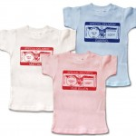"Personalized short-sleeve ""Special Delivery"" t-shirts for baby. 100% cotton."