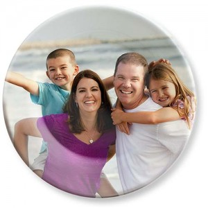 Family portrait photo on melamine picture photo plate