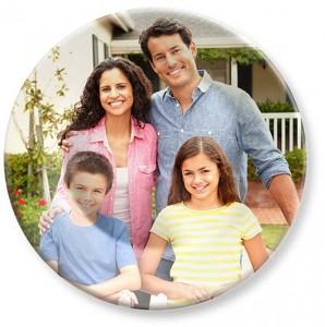 Family portrait photo on melamine picture photo plate