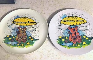 personalized vintage bear plate from the 80s-colleen