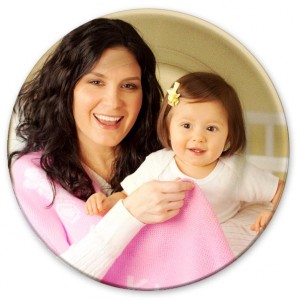 custom photo picture plate with beautiful mom and baby