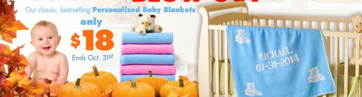 October 2014 special on personalized baby blankets for kids