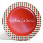 Santa christmas gift plate special