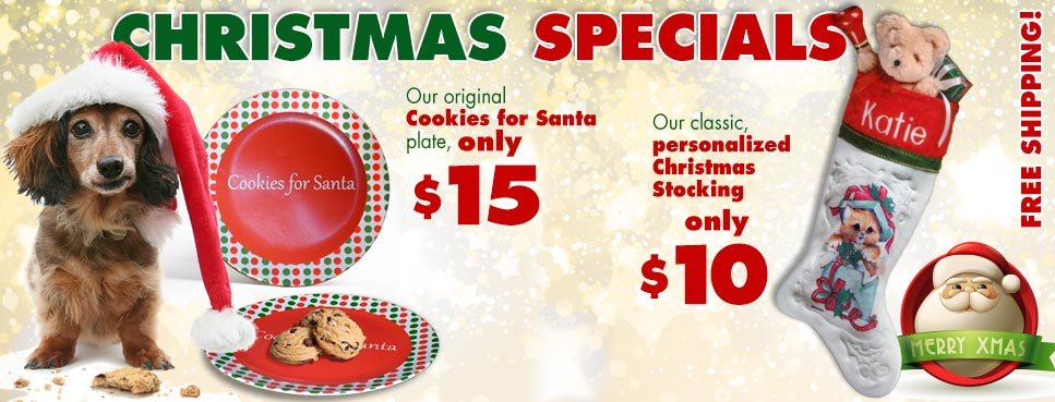 Christmas specials at PersonalBabyProducts.com