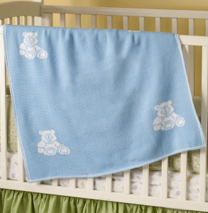 interactive personalized baby blanket for boys - blue
