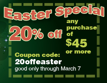 Easter special at Personal Baby Products. 20% off!