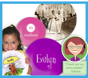 personalized nameplates for baby, kids and family