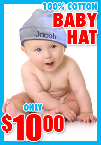 cheap personalized baby gift hat, only $10