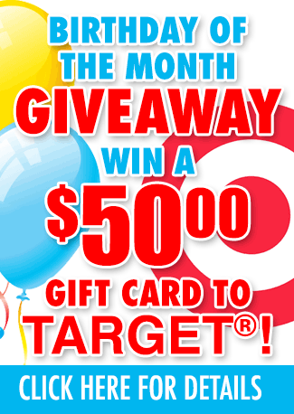 Birthday contest signup-win $50 Target gift certificate