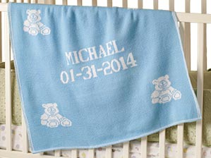 Boys and girls personalized blankets for kids make great gifts and presents for holidays, birthdays and baby showers.