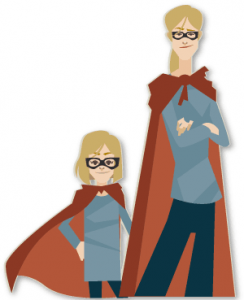 How my mother became the Super Woman she always wanted to be.