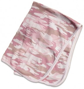 Girls pink camo-blanket. camouflage print for your baby Duck Dynasty duck hunter