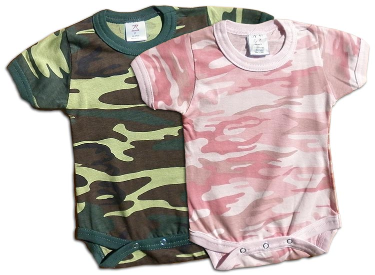 Boys and girls camo-onesie (body suit). camouflage print for your little Duck Dynasty duck hunter