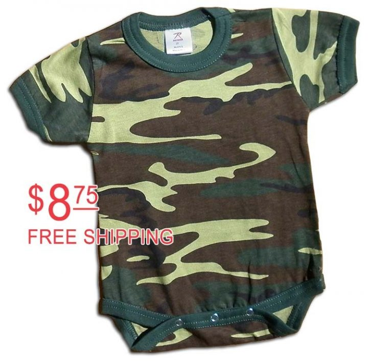 Boys green camo-onesie. camouflage print for your little Duck Dynasty duck hunter