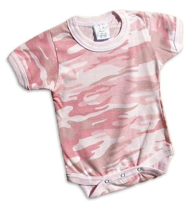 Girls pink camo-onesie. camouflage print for your little Duck Dynasty duck hunter