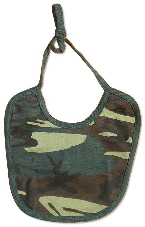 Boys green camo-bibs. camouflage print for your little duck hunter