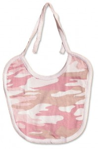Girls pink camo-bibs. camouflage print for your little duck hunter