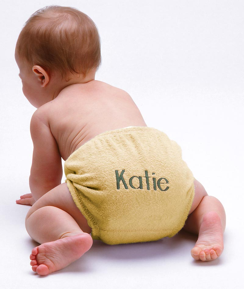 Girls personalized diaper covers. 100% cotton.