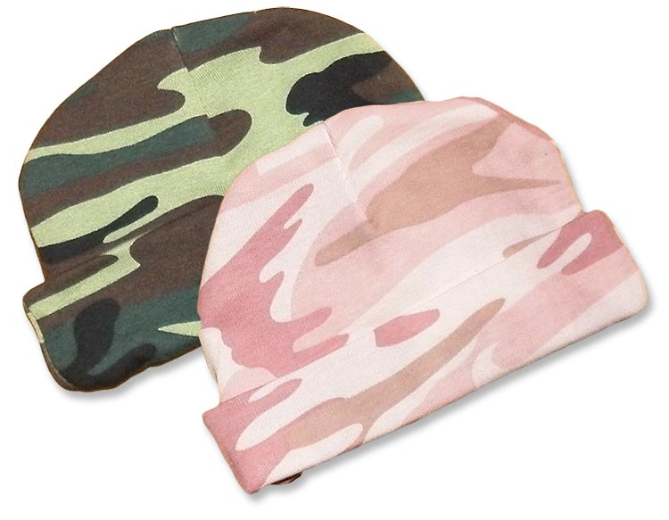 Camo Baby Hat. Boys and girls green and pink camo-hats. camouflage print  for your little duck 853383e42ead