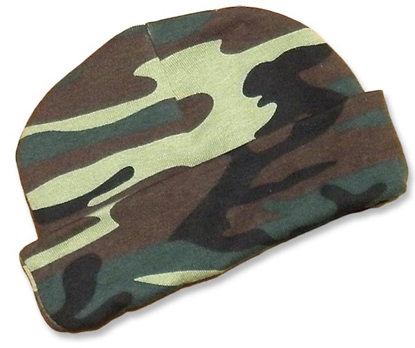 Boys green camo-hats. camouflage print for your little duck hunter