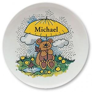 Custom, Personalized Name Plates. Melamine dinner plate for kids