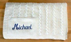 Personalized cashmere blanket for boys. Perfect gift for baby boys