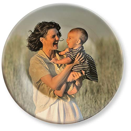 Full color reproduction of your photo on our melamine dinner plates.
