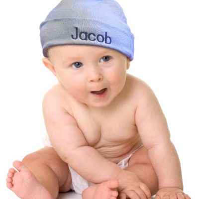 Personalized baby hats for baby boys and girls. 100% cotton.