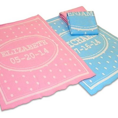 Personalized baby blanket for boys and girls. Free shipping