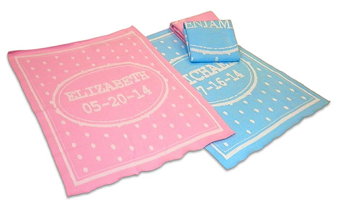 Special price: personalized baby blankets for boys and girls