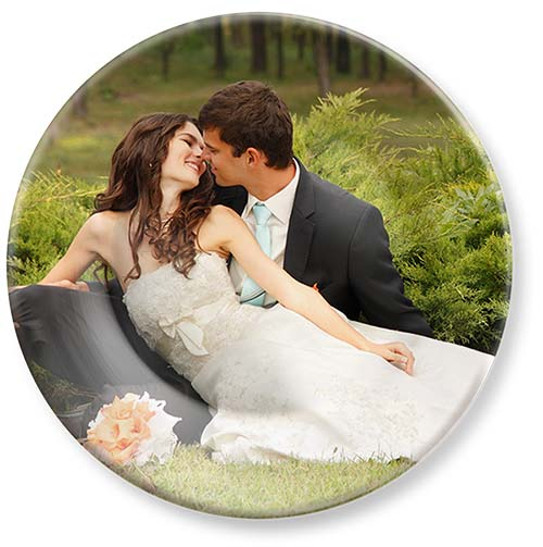 "Colorful Picture Plates. 10"" melamine dinner plate with wedding photos"