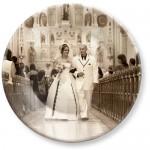 Melamine Dinner Plate with Wedding Photo
