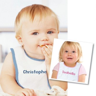 Personalized baby bibs for boys & girls