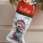 personalized traditional christmas stocking