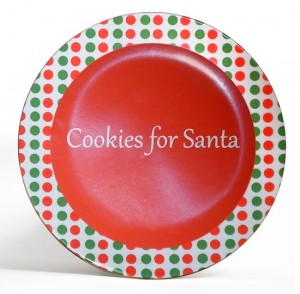 Santa christmas gift plate special at PersonalBabyProducts.com