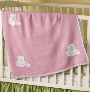 interactive personalized baby blanket for girls - pink