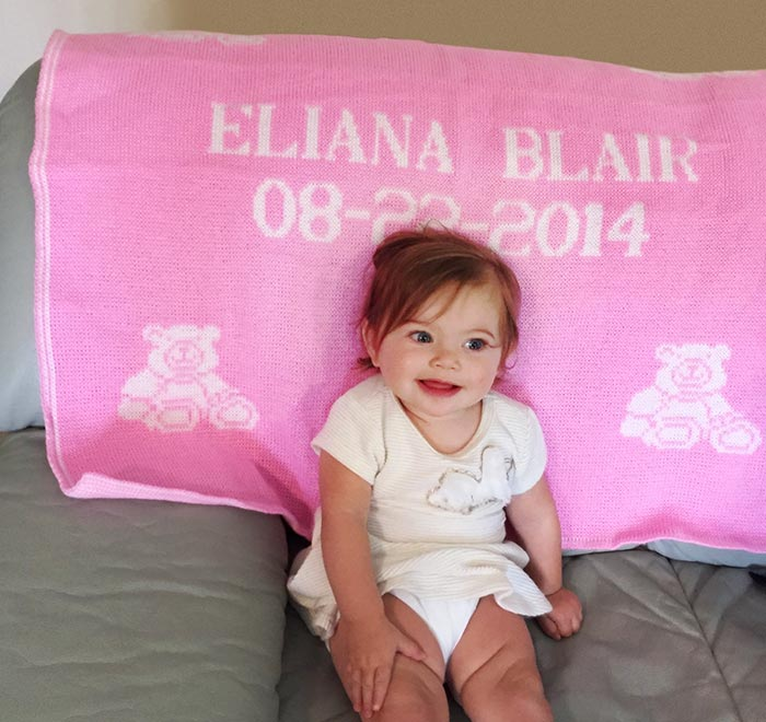 personalized baby blanket, eliana - randesign
