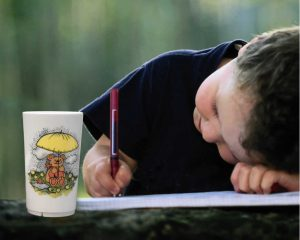 Children/baby, melamine cup (tumbler) with Rainy Bear design