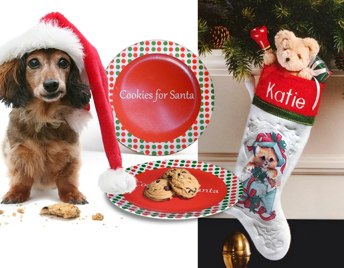 Personalized Christmas stocking, free plate
