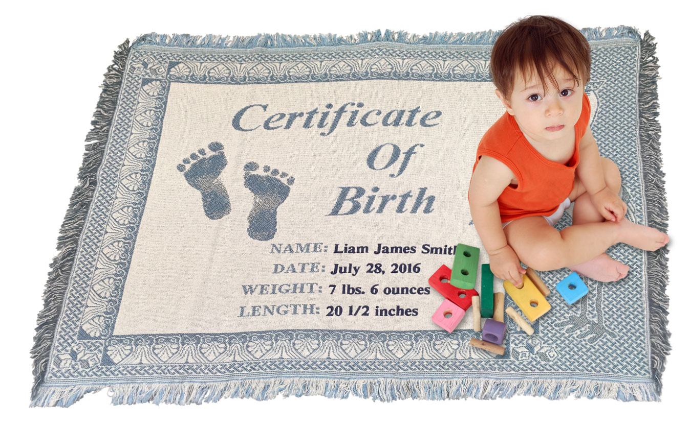 birth certificate baby blanket