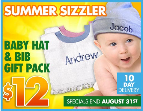 Baby hat and bib summer special