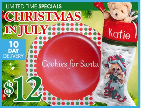 Personalized Christmas stocking, free plate and FREE shipping!