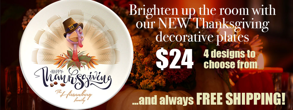 NEW Thanksgiving special personalized decorative plates